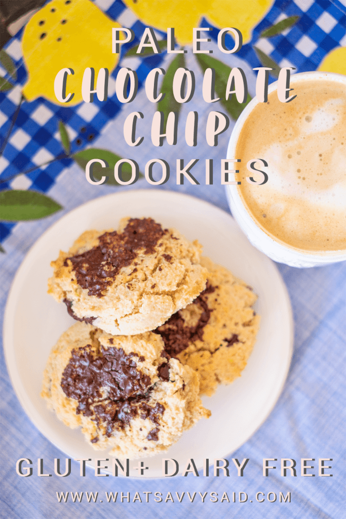 Paleo Chocolate Chip Cookies #whatsavvysaid #glutenfree #dairyfree #refinedsugarfree #paleorecipe